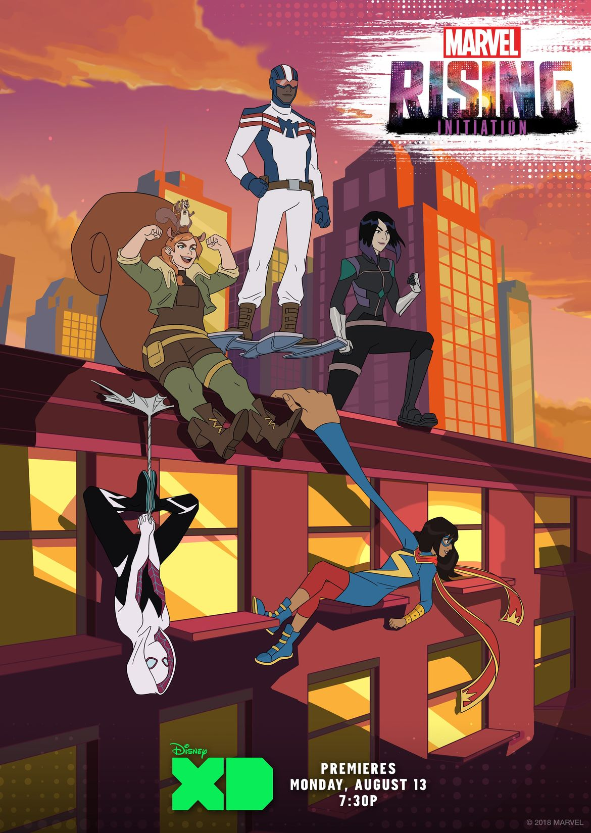 Marvel Rising Initiation heroes