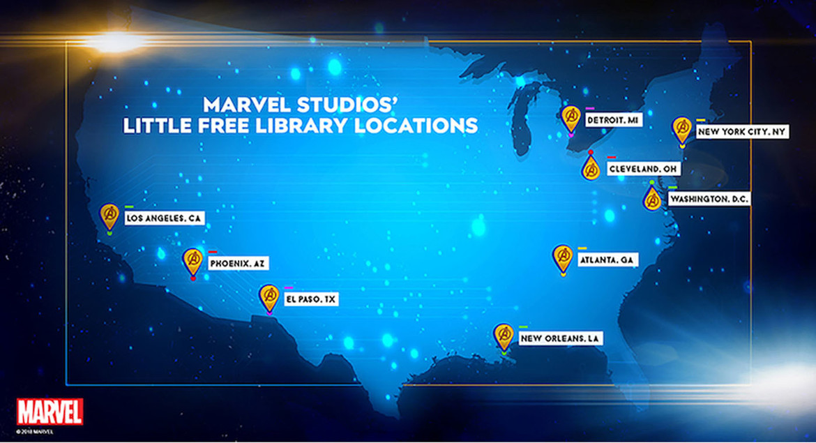 Marvel Studios Little Free Library Locations