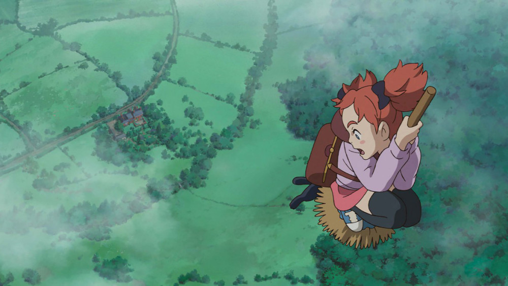 mary and the witch's flower broomstick flying