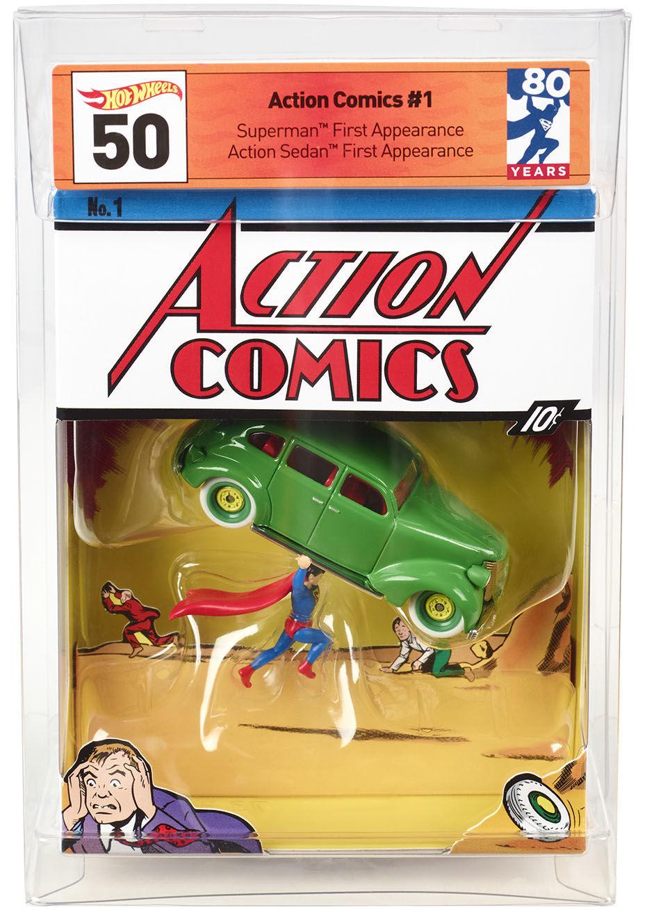mattel action comics sdcc hot wheels