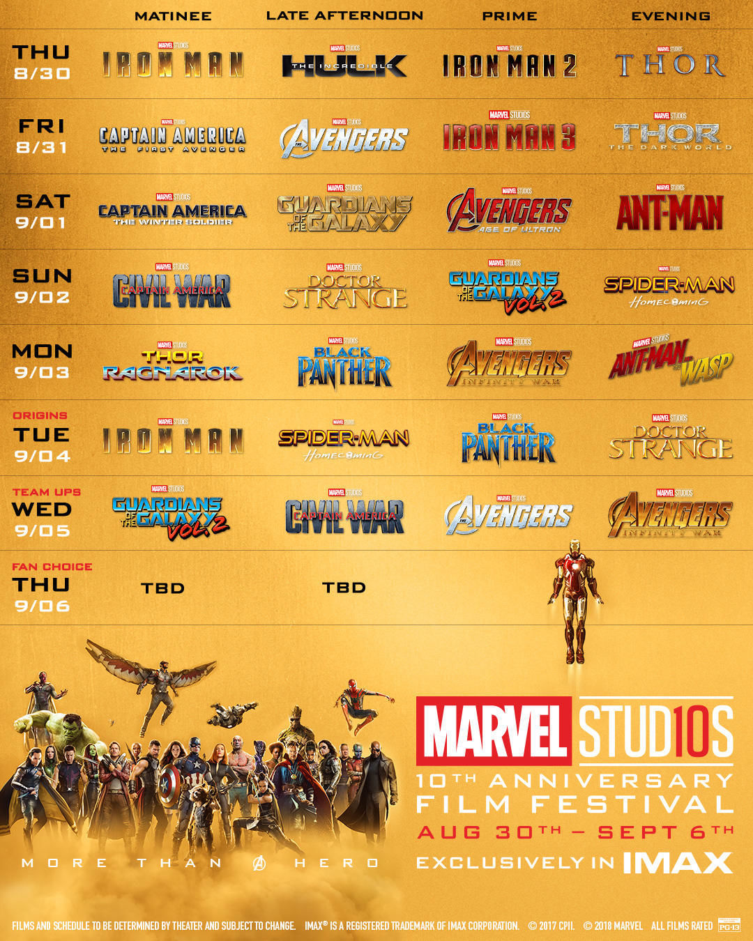 Imax To Host Marvel Film Marathon For MCU's 10-Year Anniversary