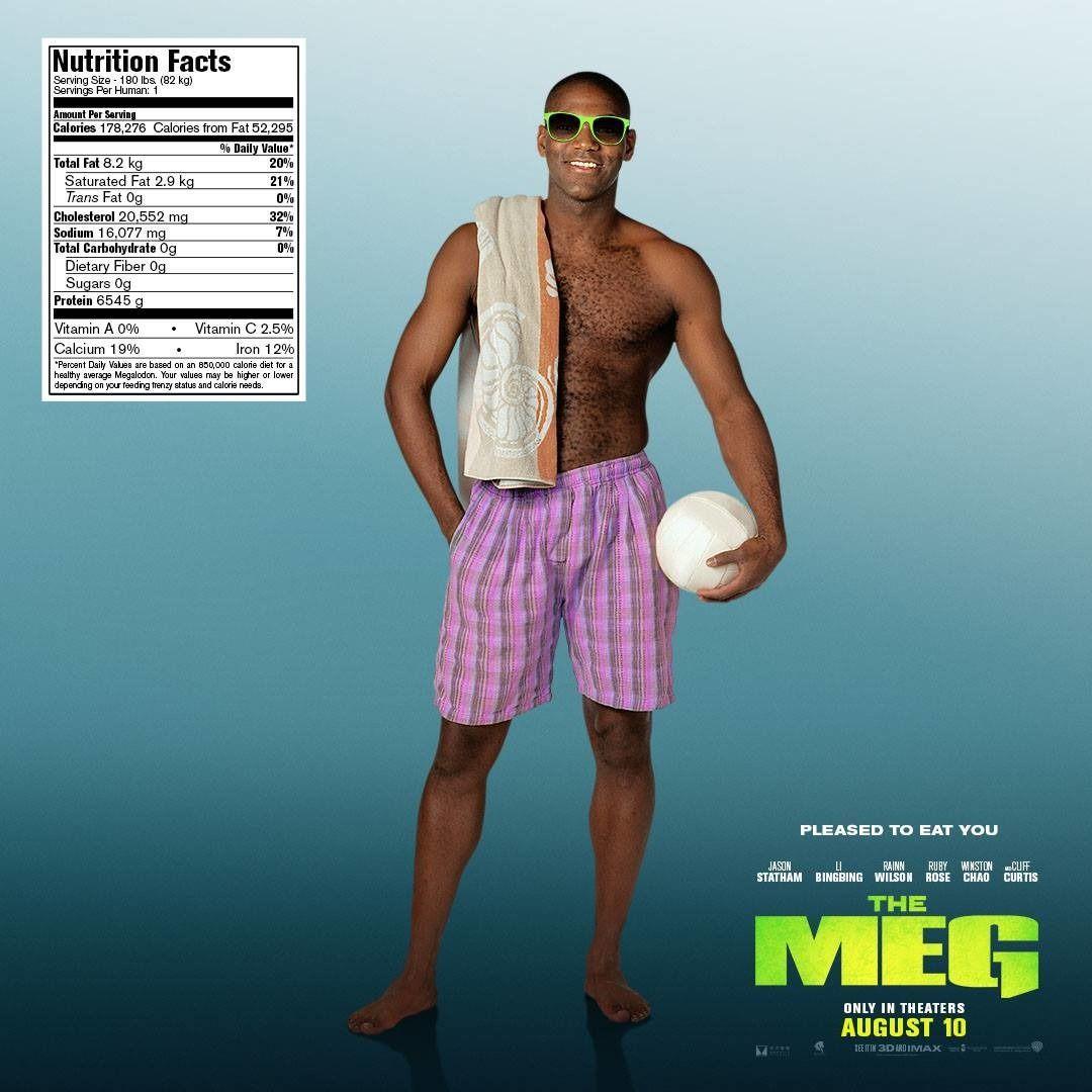 The Meg debuts mega-licious, nutritious beachgoer posters