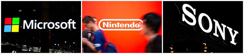 Microsoft Nintendo and Sony logos