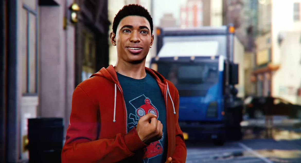 Miles Morales in Spider-Man PS4
