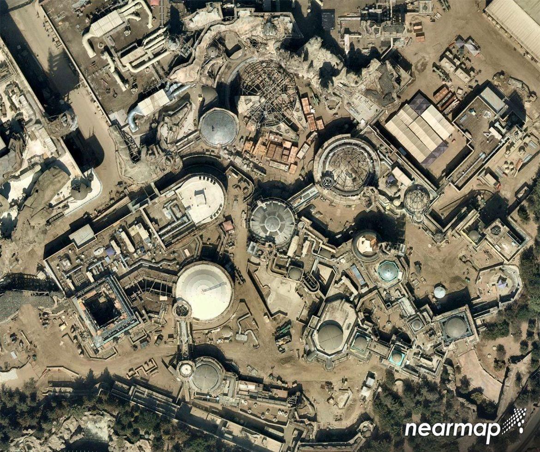 Millennium Falcon Disneyland Aerial Shot
