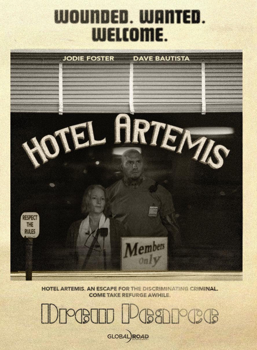 Hotel Artemis poster Dave Bautista