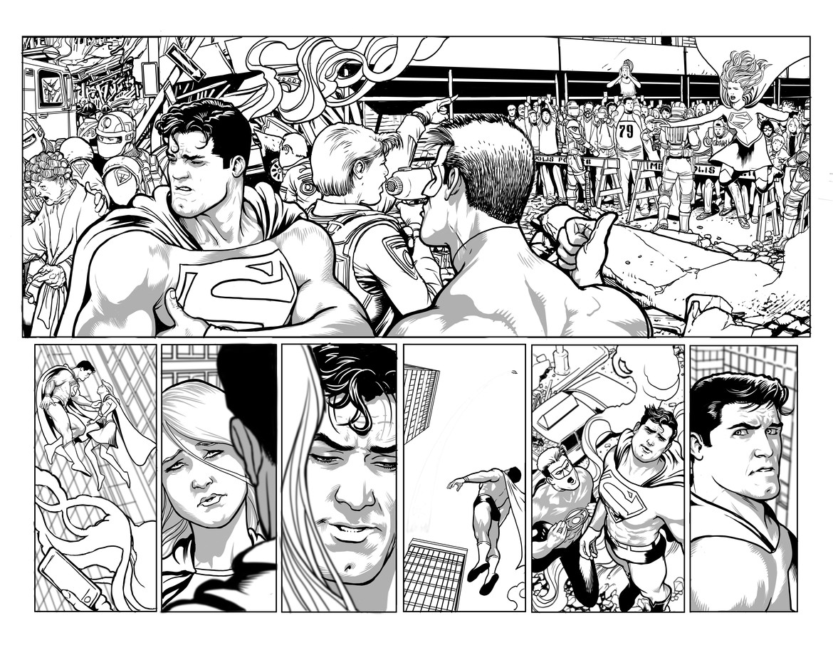 Kevin Maguire Man of Steel pencils