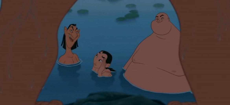 Mulan and the Naked Trio