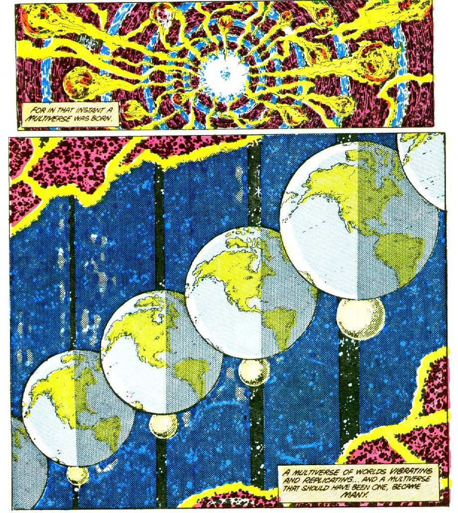Crisis on Infinite Earths #1 (Written by Marv Wolfman, Art by George Perez)