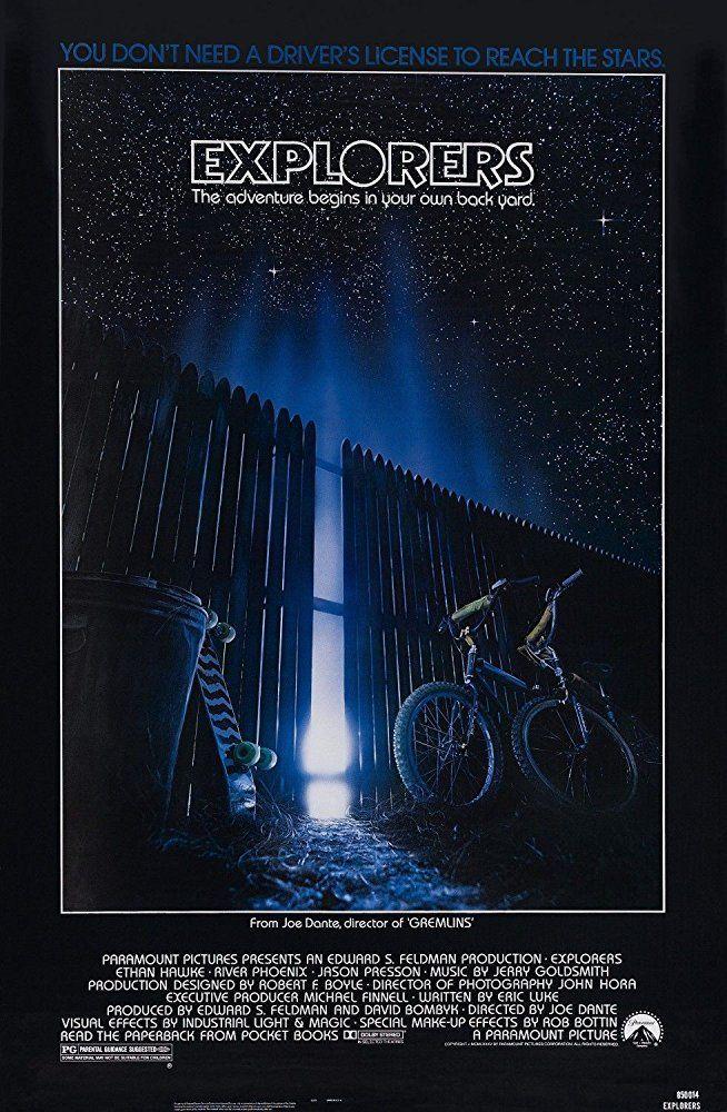 Explorers movie poster Joe Dante 1985