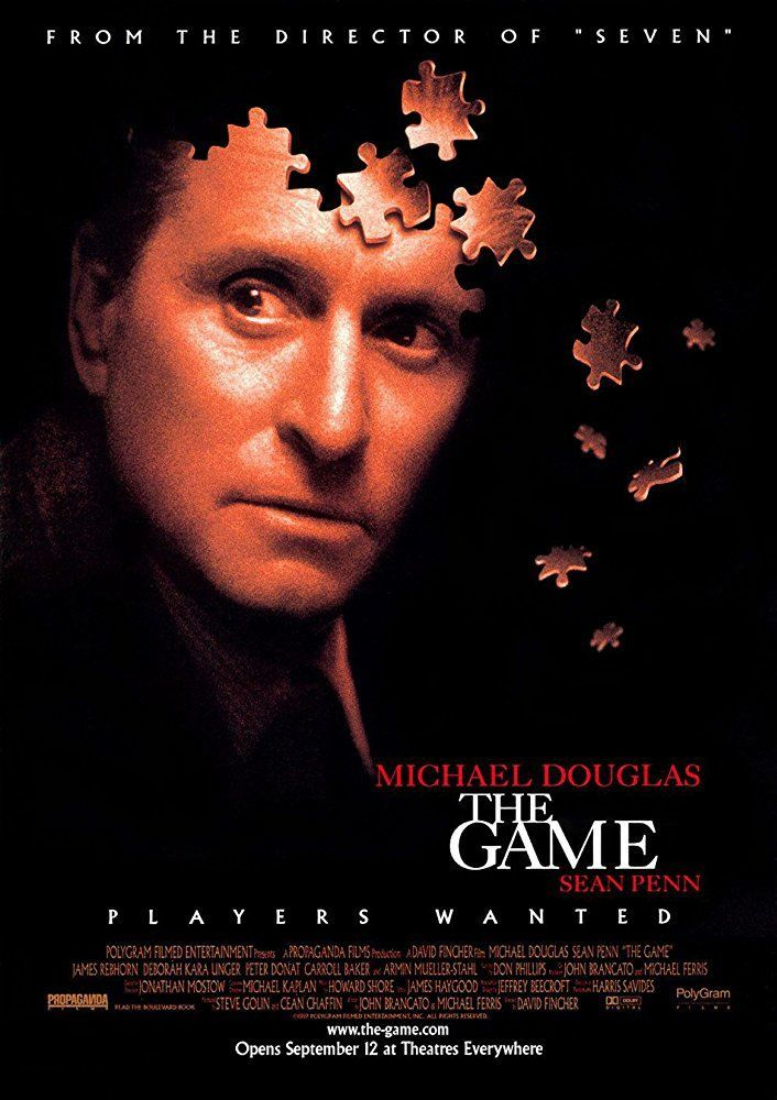 The Game David Fincher Michael Douglas poster