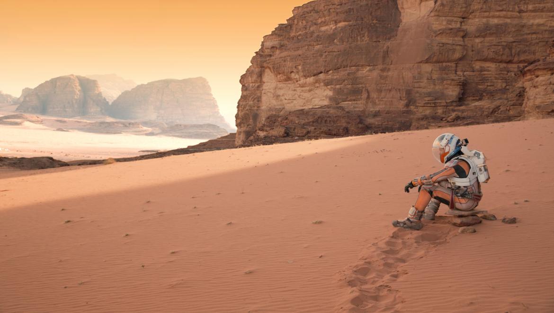 NASA image of an astronaut on Mars