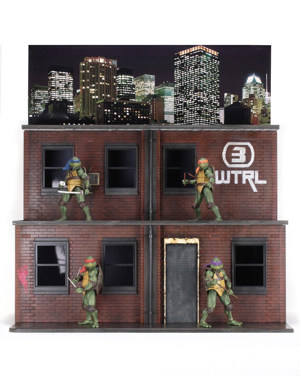 neca teenage mutant ninja turtles sdcc diorama