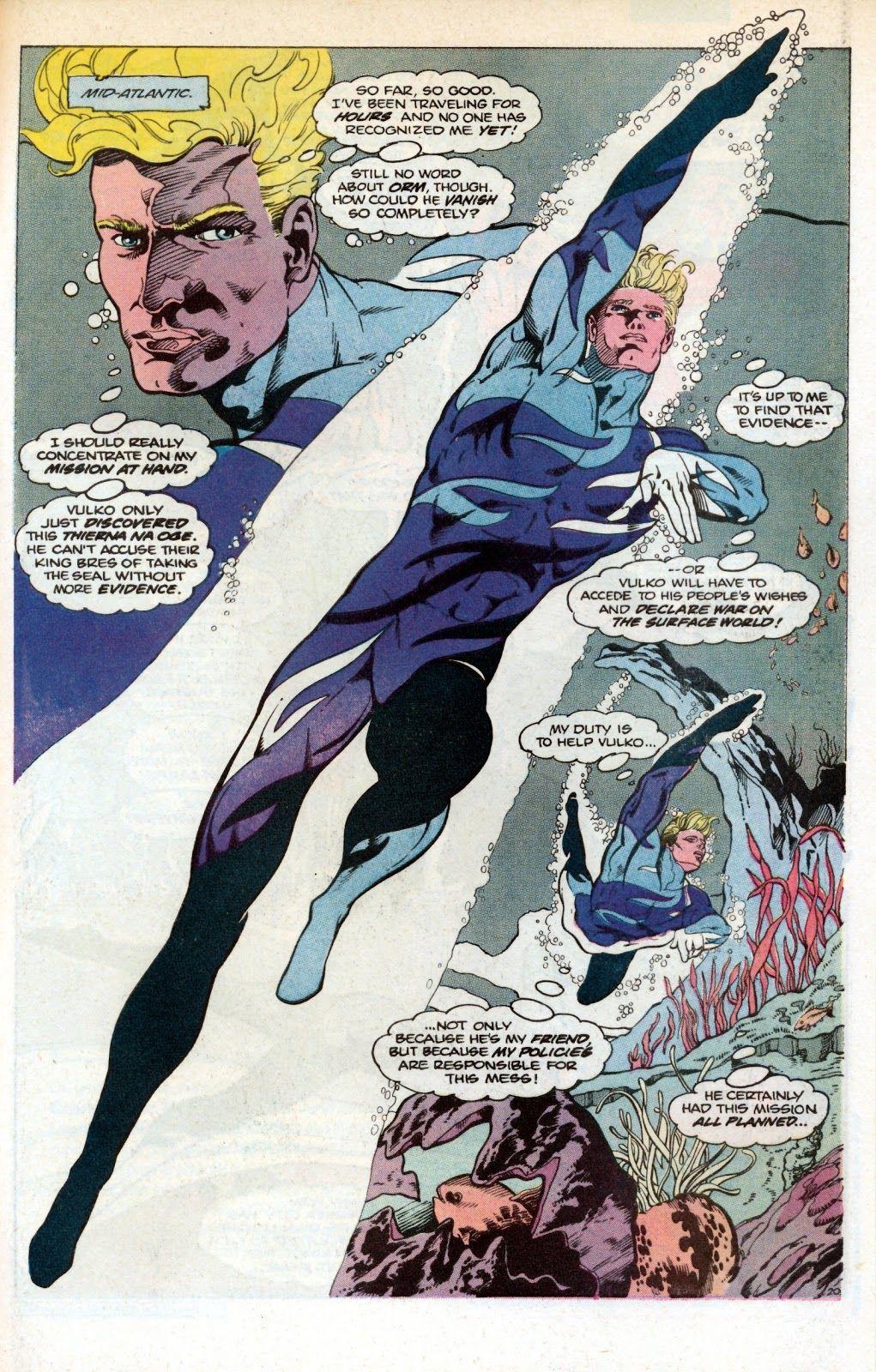 Aquaman #1 (1986) by Neal Pozner and Craig Hamilton.