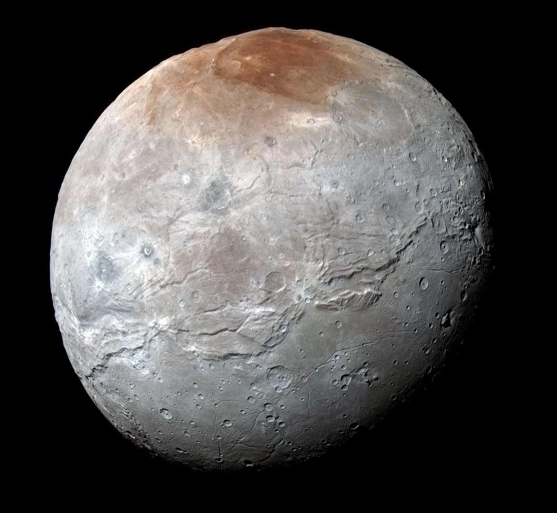 The jumbled mess that is Charon, Pluto's large moon. Credit: NASA/JHUAPL/SwRI