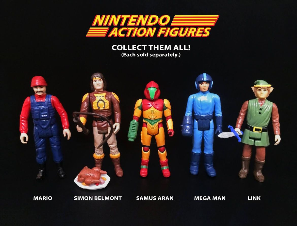 Nintendo Action Figures Death by Toys