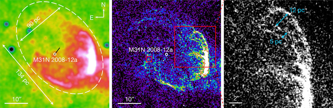 The super-remnant around the recurring nova M31N-2008-12a. -2008-12a