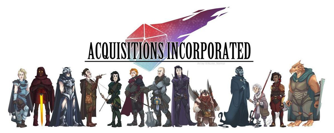 Acquisitions Incorporated art by Nurse Normal