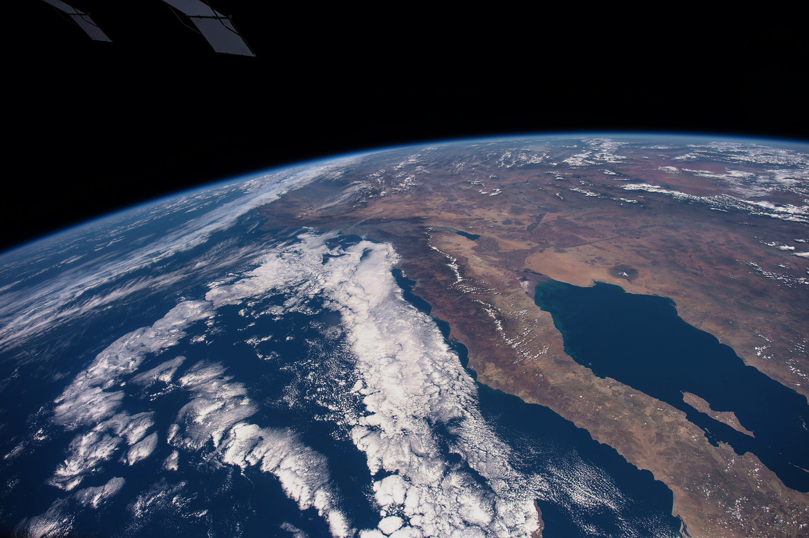 Baja California and the Sea of Cortez are easily recognizable from the International Space Station. Credit: NASA/Seàn Doran