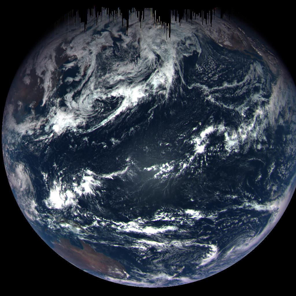 Earth, from 170,000 km away. Credit: NASA/Goddard Space Flight Center/University of Arizona