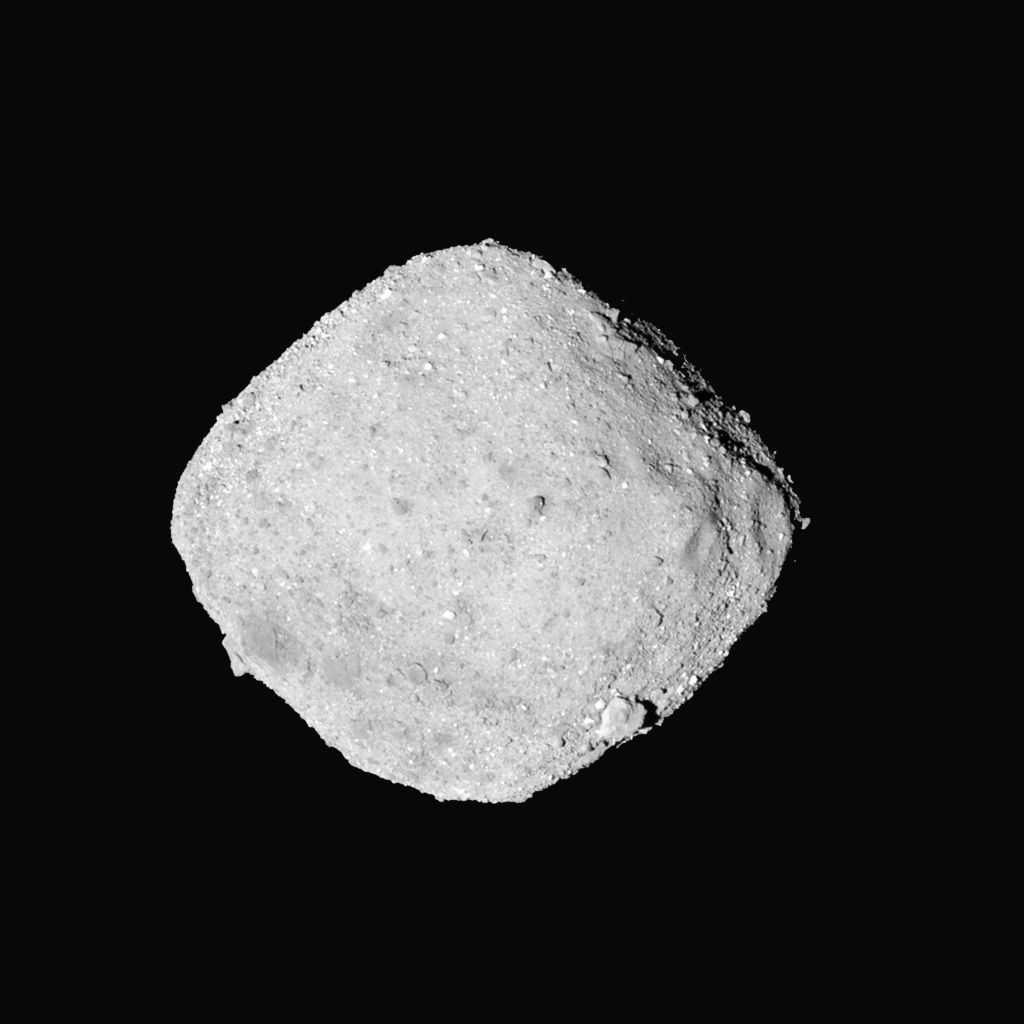 The asteroid Bennu seen by the OSIRIS-REx spacecraft from a distance of 65 km on Nov. 27 2018. Credit NASA's Goddard Space Flight Center  University of Arizona