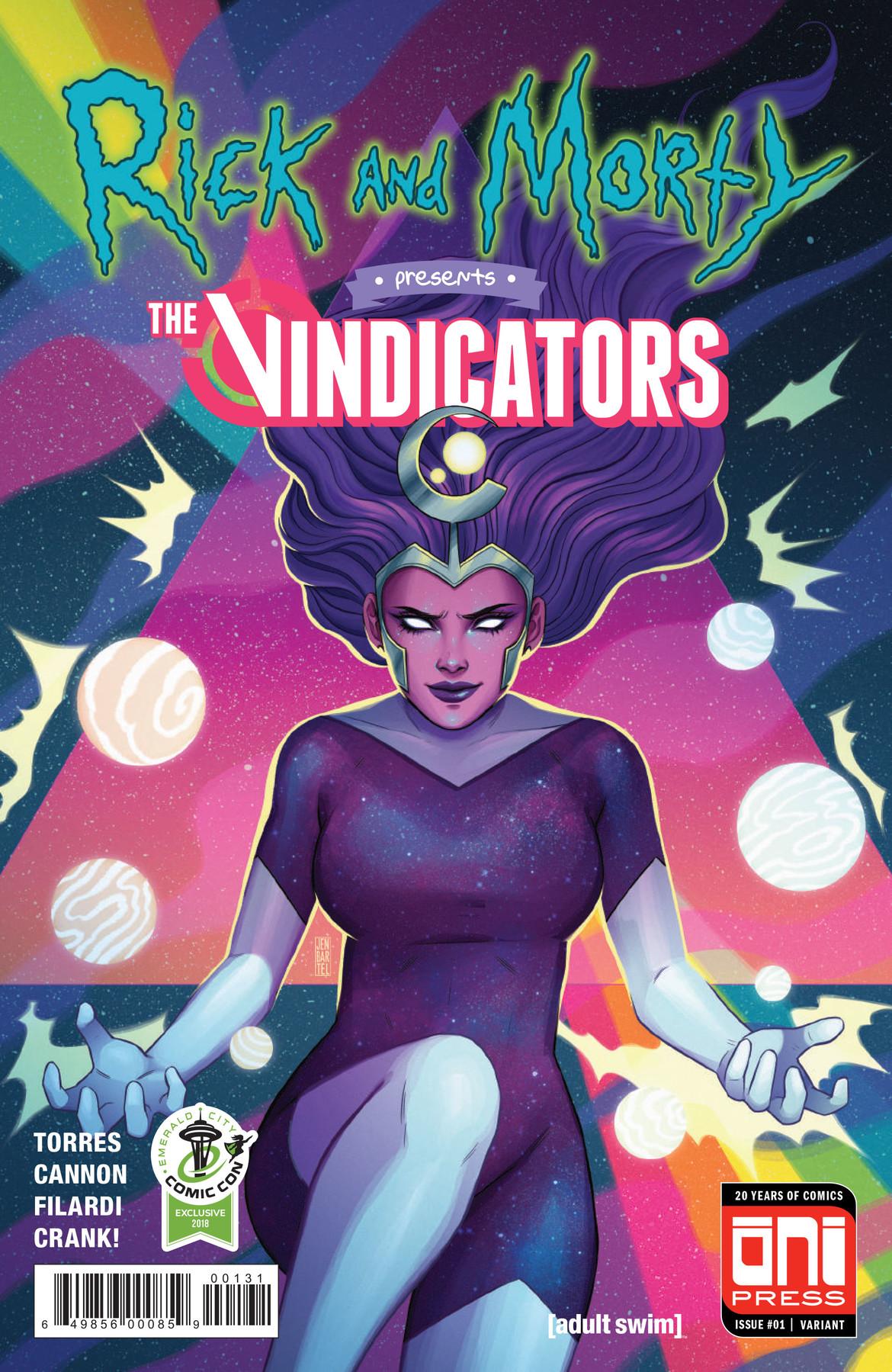 Rick and Morty Presents The Vindicators comic- ECCC cover by Jen Bartel