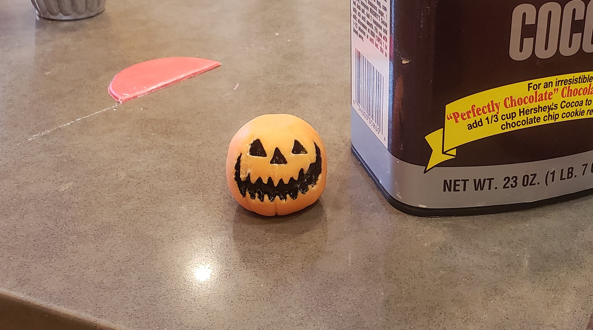 painting candy pumpkins