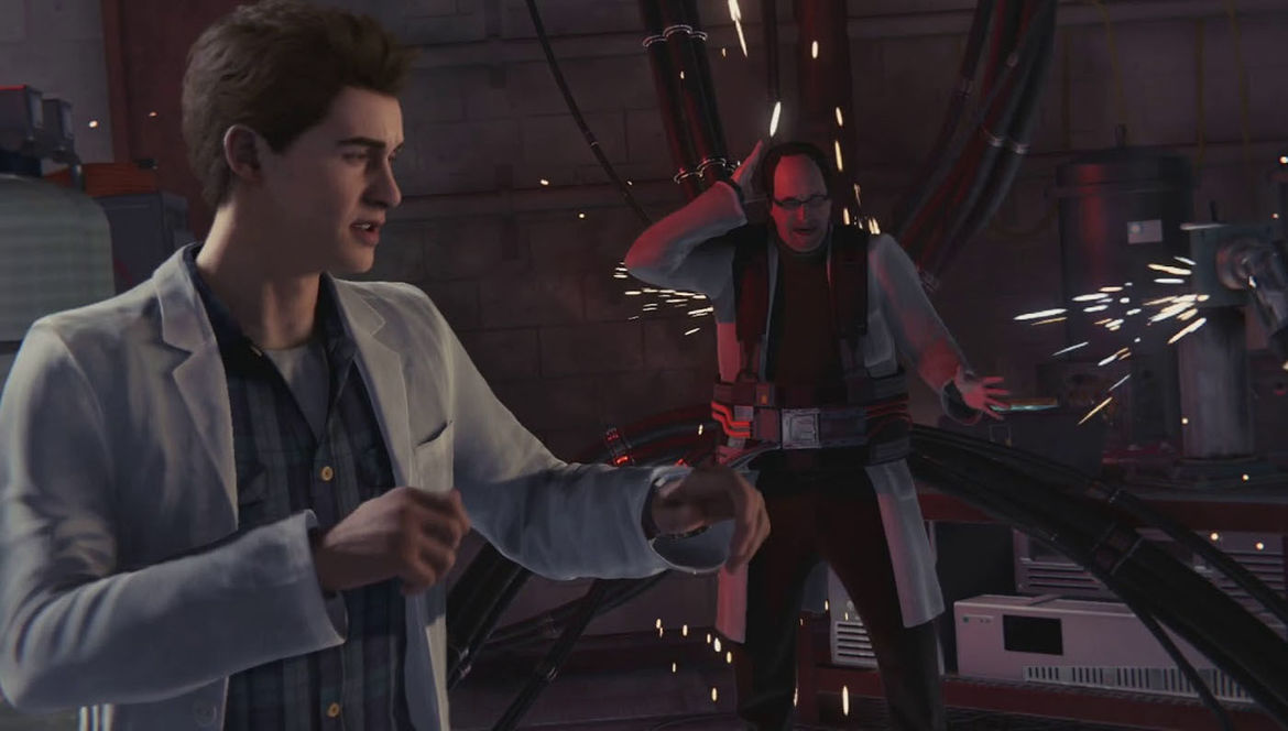 Peter Parker and Otto Octavius in Spider-Man PS4