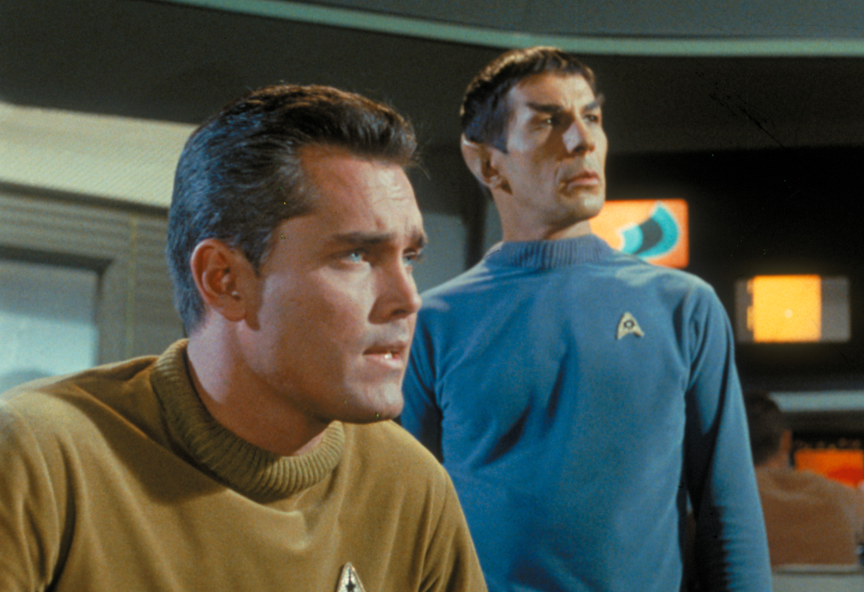 Pike and Spock Star Trek The cage
