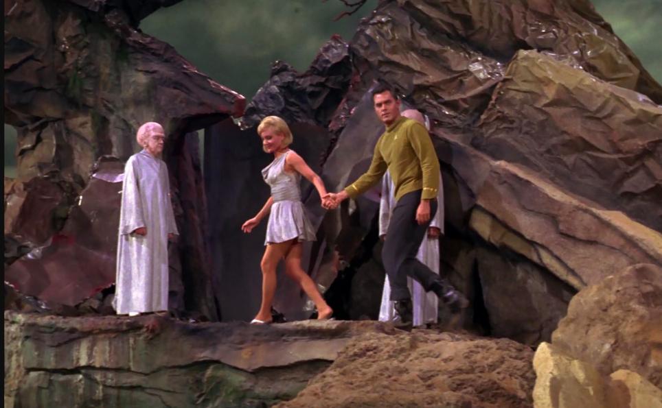Pike and Vina Star Trek classic