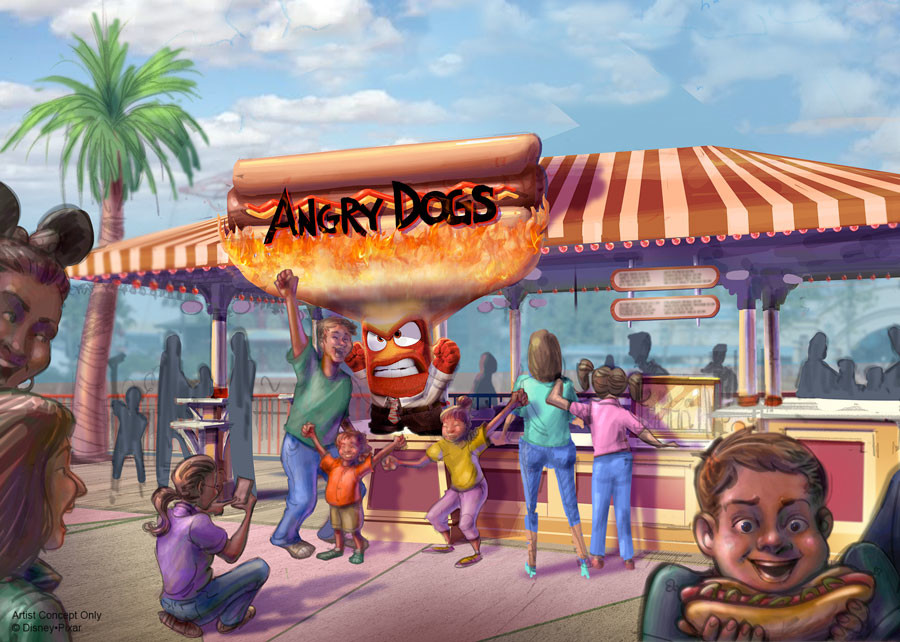 Pixar Pier- Angry Dogs concept art