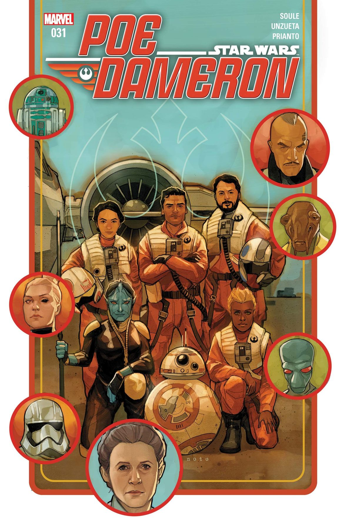 Poe Dameron #31 (Writer Charles Soule, Cover by Phil Noto)