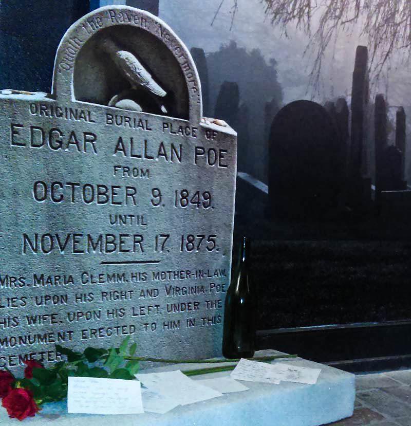 Geek Road Trip: Poe Museum, Edgar Allan Poe gravestone