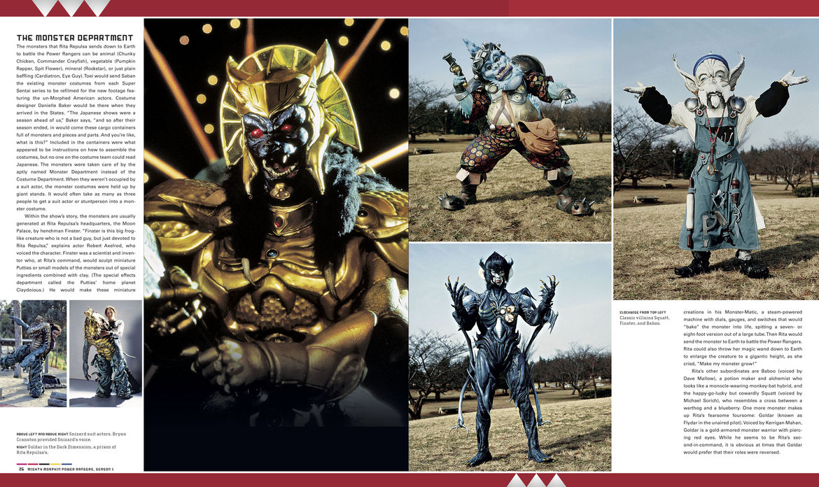 Power Rangers visual history monsters page