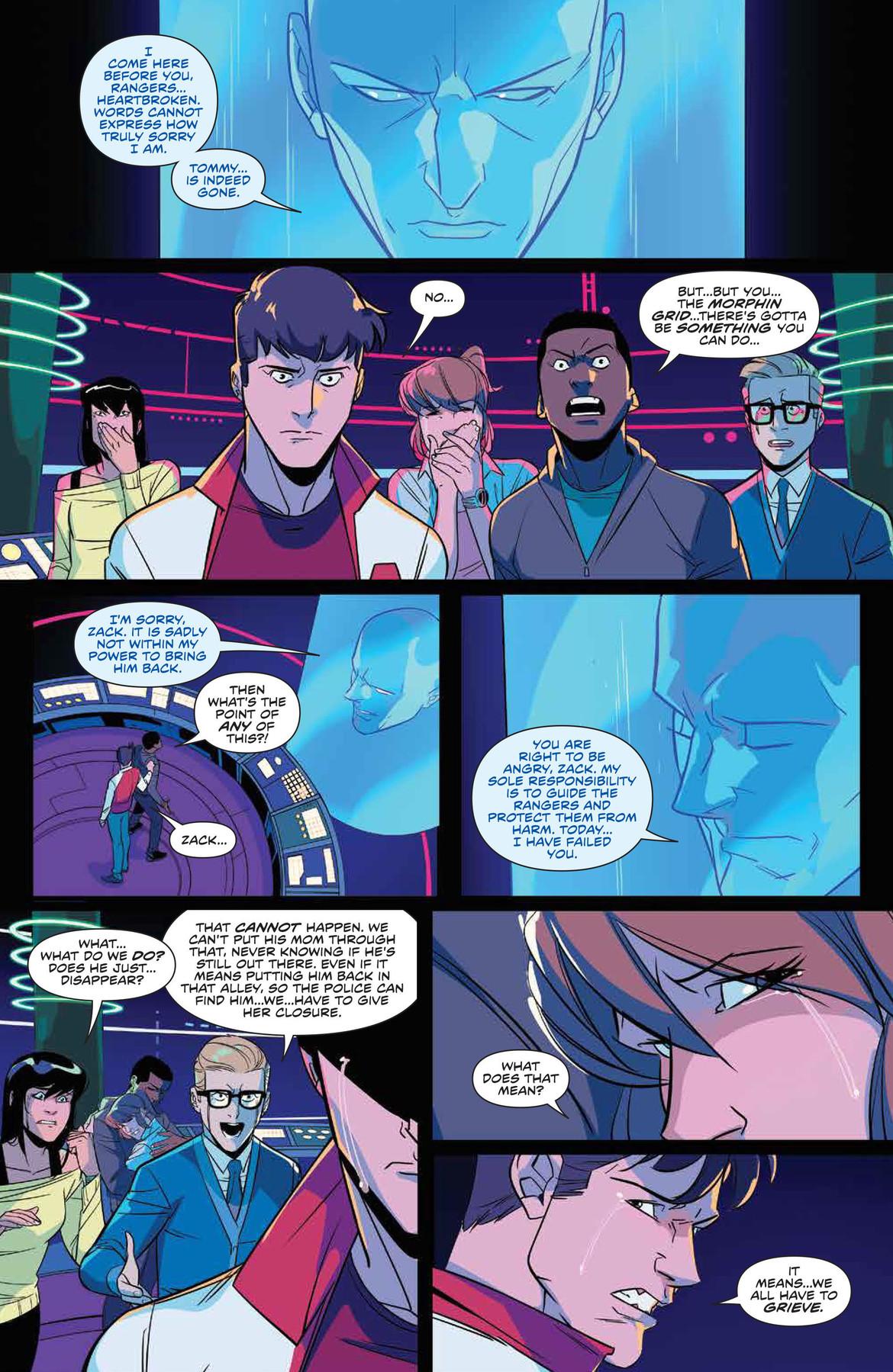 Power Rangers talk to Zordon