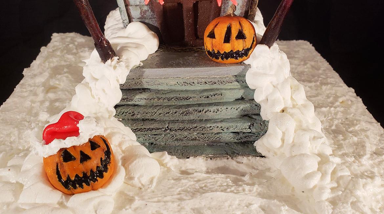 pumpkins on the steps