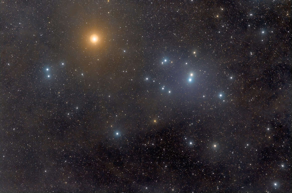 The magnificent Hyades cluster, which makes up the head and hors of Taurus the bull. Credit: Rogelio Bernal Andreo