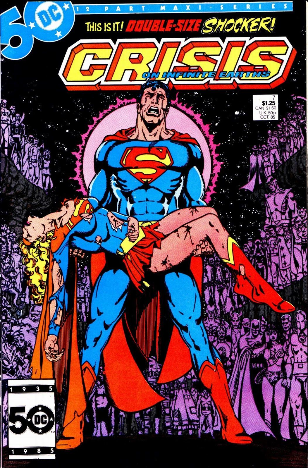 Crisis on Infinite Earths #7 (Written by Marv Wolfman, Art by George Perez)