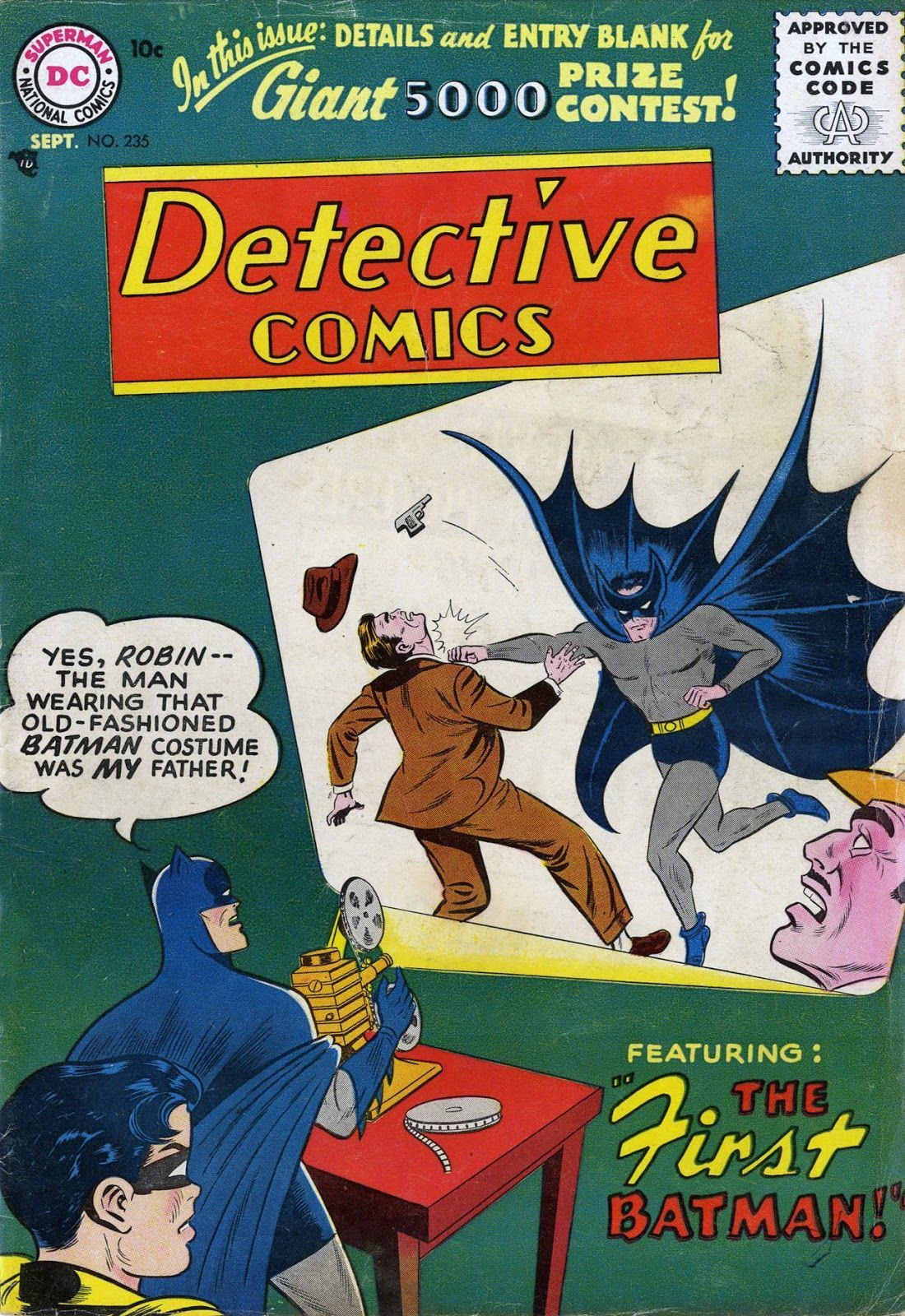 Detective Comics #235 (Writer: Bill Finger, Art: Sheldon Moldoff)