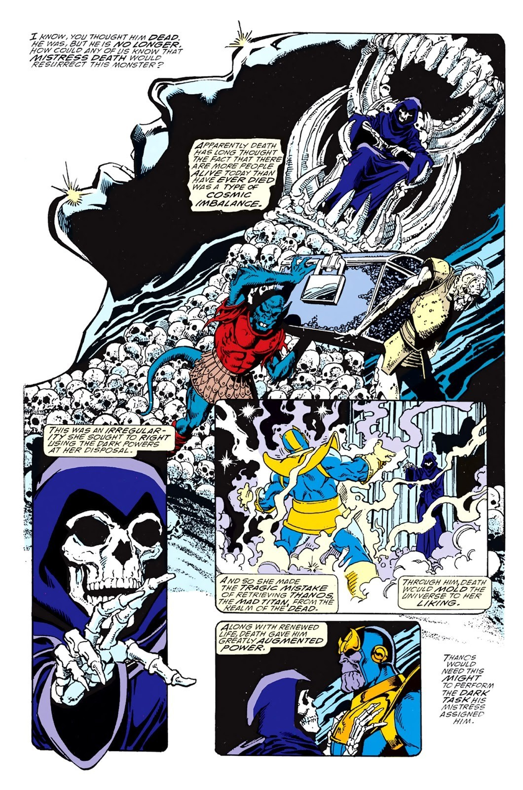 Thanos, Death, Infinity Gauntlet Pt. 1