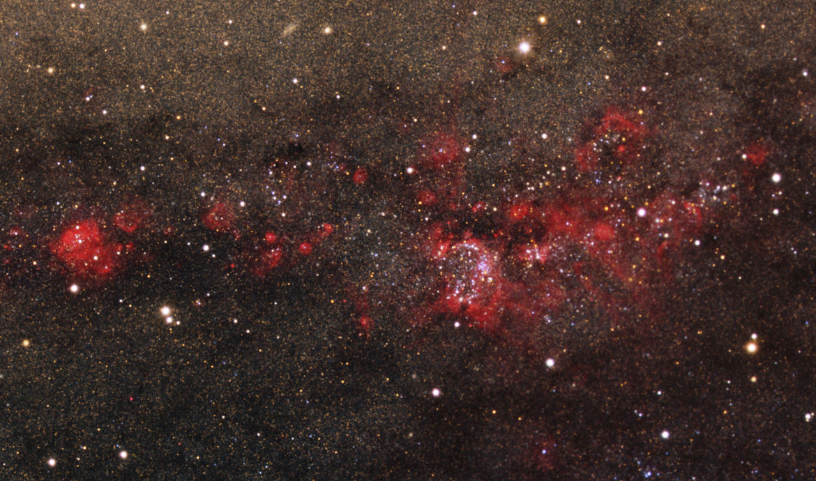 Star-making factories in the Andromeda Galaxy (M31); note you can easily see individual stars. Credit: Local Group Survey Team and T.A. Rector (University of Alaska Anchorage)