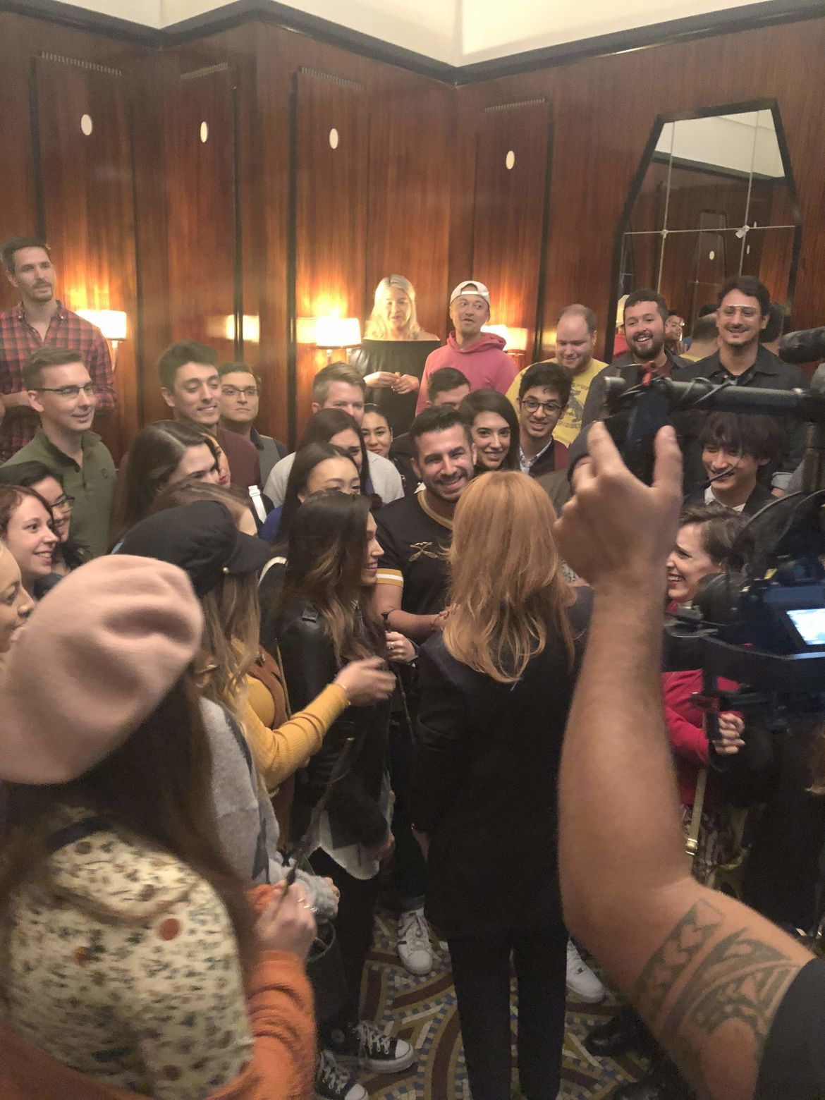 J.K. Rowling meeting fans Fantastic Beasts: The Crimes of Grindelwald