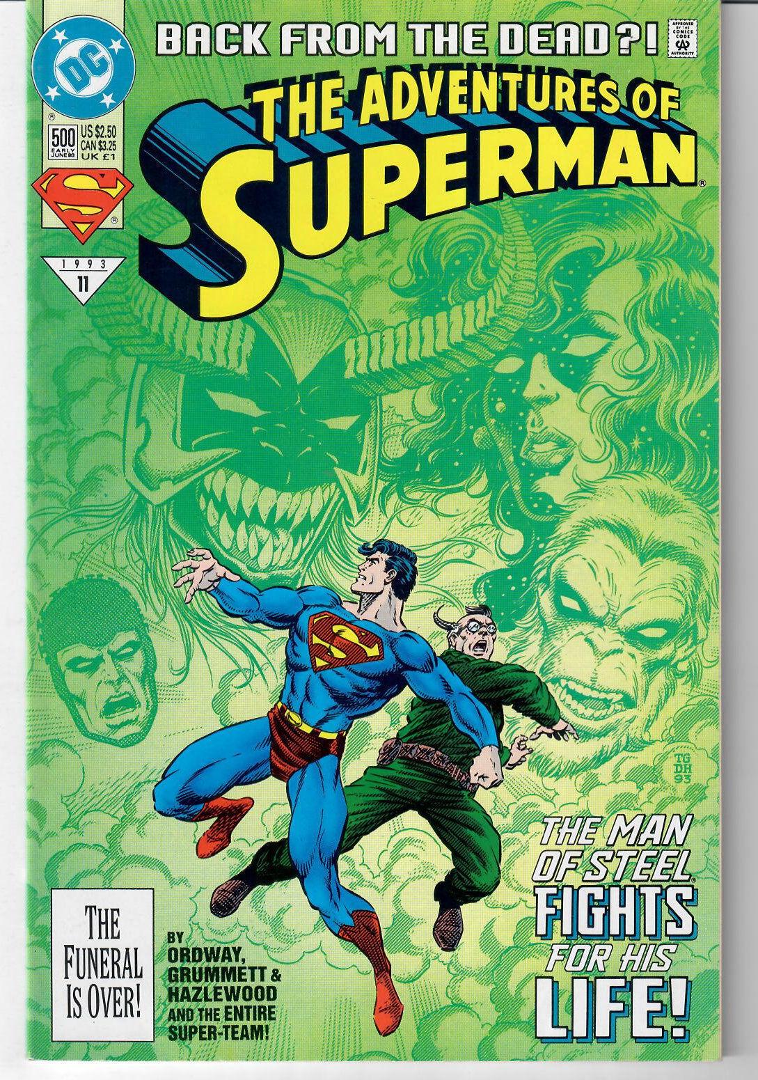 Adventures of Superman #500 (Art by Tom Grummett, Written by Jerry Ordway)