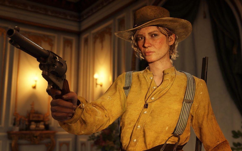 Red Dead Redemption 2 - Sadie with Gun