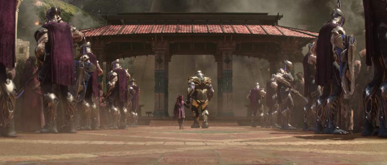 Infinity War, gamora and thanos