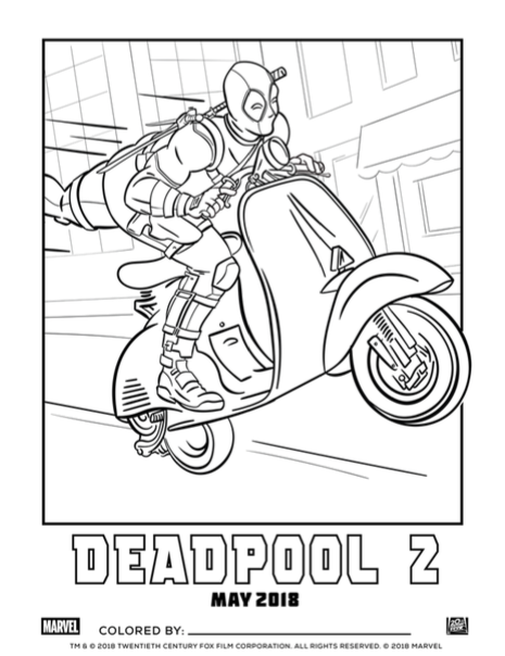 Feel like a kid again with Deadpool 2 coloring book marketing ...
