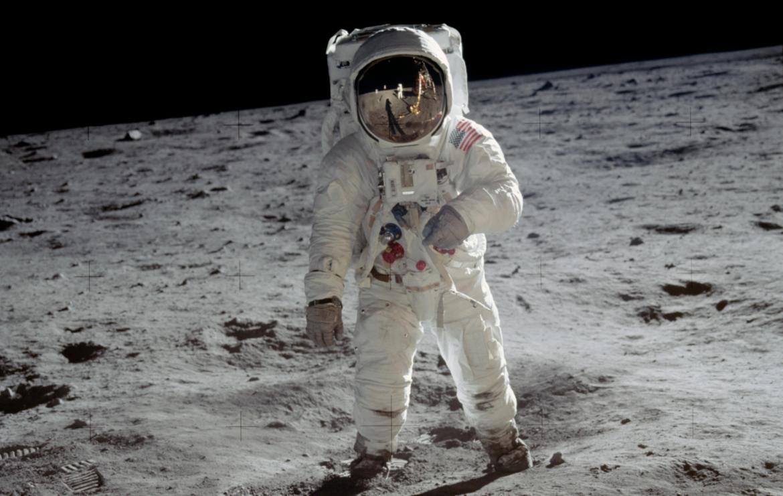 NASA image of Buzz Aldrin on the moon