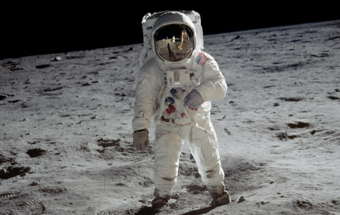 NASA image of Buzz Aldrin on the moon