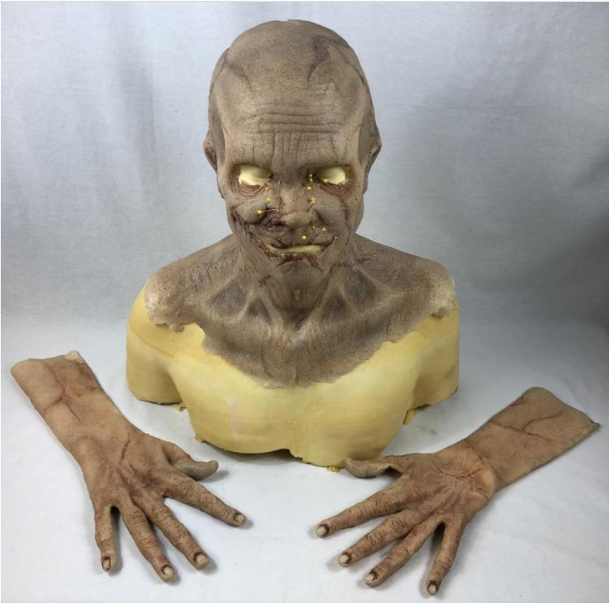 Doug Jones' mask and hands from The Bye Bye Man