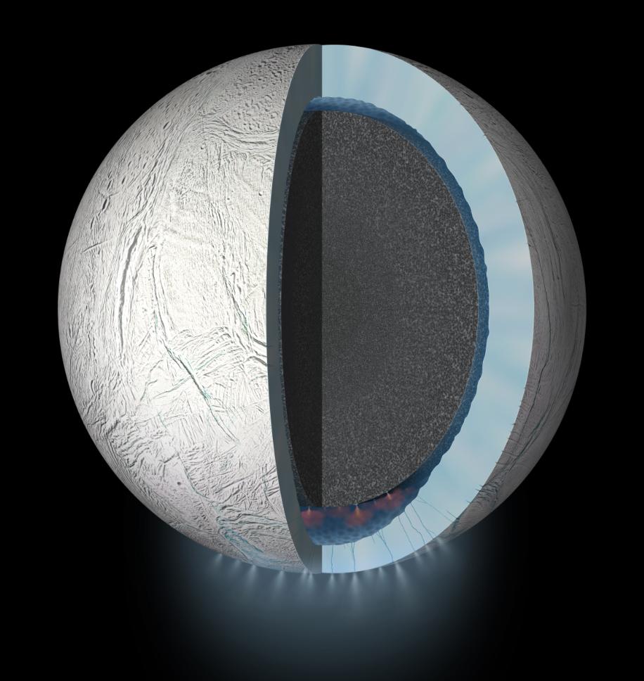 NASA image of Enceladus